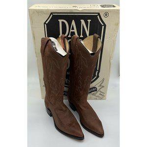 Dan Post 6M Marlboro Gear Leather Cowboy Boots